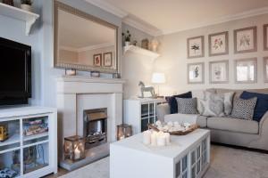 contemporary living room revamp