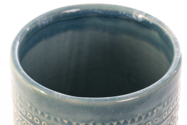 Boho ceramic turquoise vase Ibiza