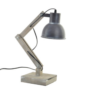 Desk lamp wood metal boho Ibiza