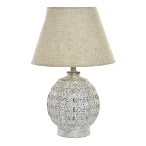 Moroccan silver table lamp Ibiza