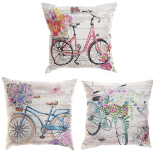 Vintage Bicycle Cushions Pink Turquoise Blue Ibiza