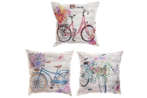 Vintage Bicycle Cushions Pink Turquoise Blue Ibiza