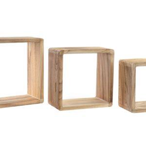 Cube shelves wood boho Ibiza