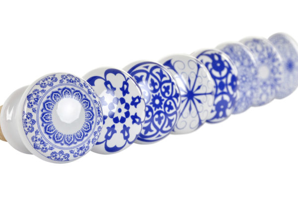 Blue ceramic wine corks Ibiza