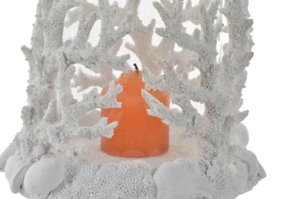 White coral candle holder Ibiza
