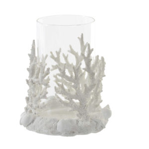 White coral candle holder Ibiza