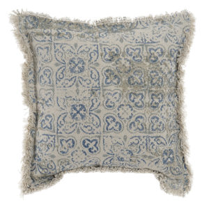 Boho Blue tile cushion Ibiza