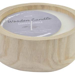 wood garden candle Ibiza